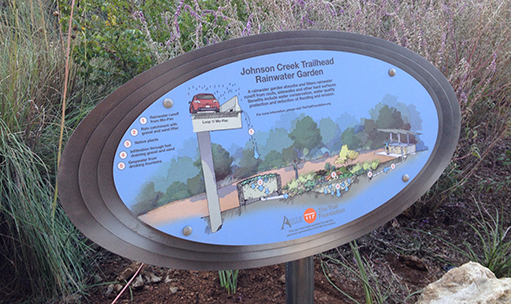 Johnson-Creek-Trailhead-Rainwater-Garden-Interpretive-Sign